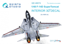 F-14D 3D-Printed & coloured Interior on decal paper