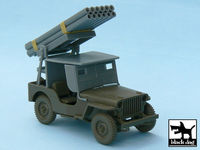 Jeep with rocket launcher for Tamiya 32552, 43 resin parts - Image 1