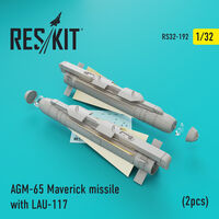 AGM-65 Maverick missile with LAU-117  (2pcs)(AV-8b, A-10, F-16, F-18)