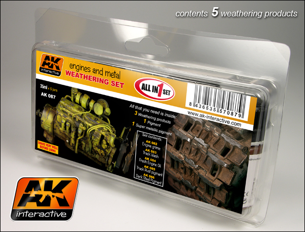 AK 087 ENGINES AND METAL WEATHERING SET - Image 1