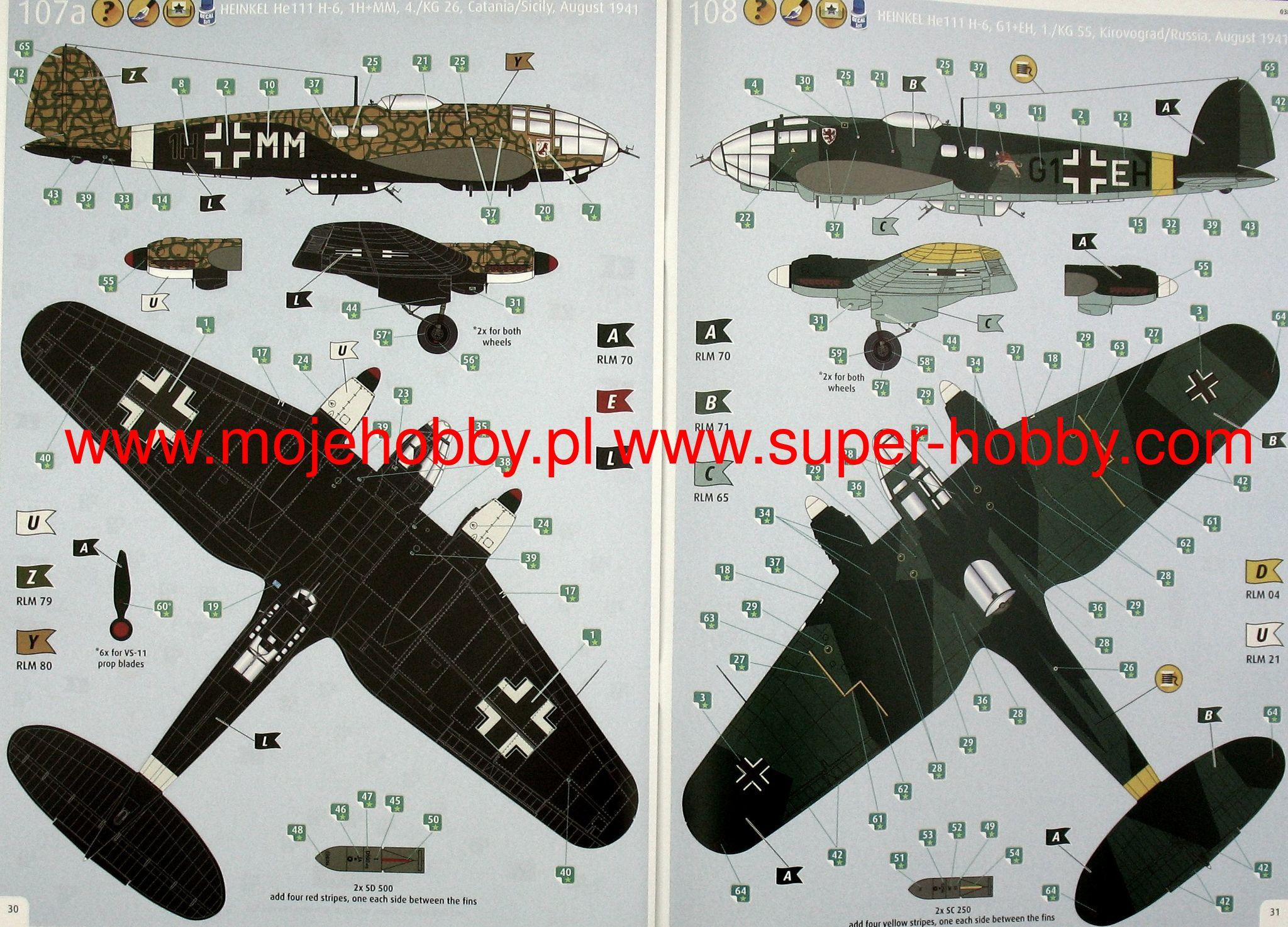 Revell Plastic Model Kits #3863 1//48 Heinkel He111 H-6