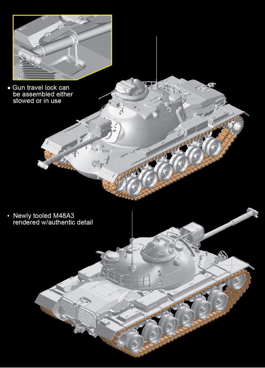 DRAGON 3546 1//35 M48A3 Tank