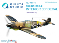 Bf-109G-2 3D-Printed & coloured Interior on decal paper