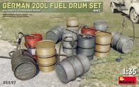 German 200 Liter Fuel Drum Set - Image 1