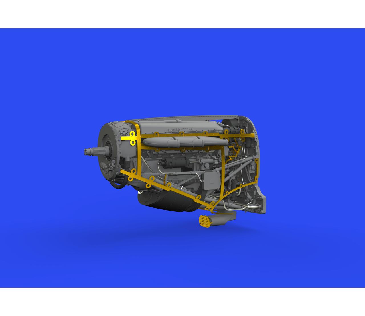 Eduard Brassin 648582 1//48 Supermarine Spifire Mk.I engine EDUARD