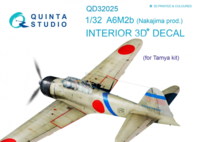 A6M2b (Nakajima prod.) 3D-Printed & coloured Interior on decal paper