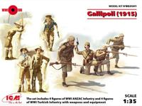 Gallipoli (1915) ANZAC Infantry (4 figures), Turkish Infantry (4 figures)