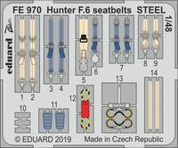 Hunter F.6 seatbelts STEEL  AIRFIX - Image 1