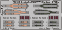Seatbelts USN WWII fighters STEEL REVELL - Image 1