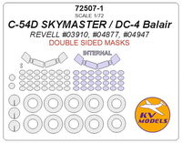 C-54D SKYMASTER / DC-4 Balair (REVELL #04877, #04947) - (double sided) + wheels masks