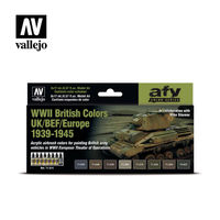 71614 WWII British Colors UK/BEF/Europe 1939-1945 Set