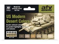 71209 AFV Color Series - US Modern Desert Colors set