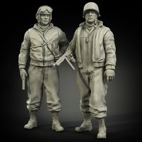 US Army tanker in winter clothes set - Image 1