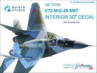MiG-29 SMT  3D-Printed & coloured Interior on decal paper - Image 1