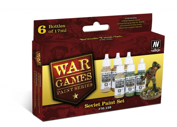70159 War Games Paint Series - Soviet Paint Set - Image 1