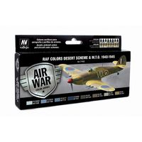 71163 Air War Color Series - RAF Colors Desert Scheme & M.T.O. 1940-1945 Set
