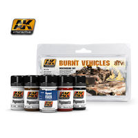 AK 4120 BURNT VEHICLES SET