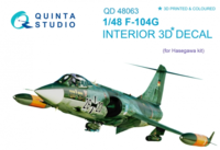 F-104G 3D-Printed & coloured Interior on decal paper