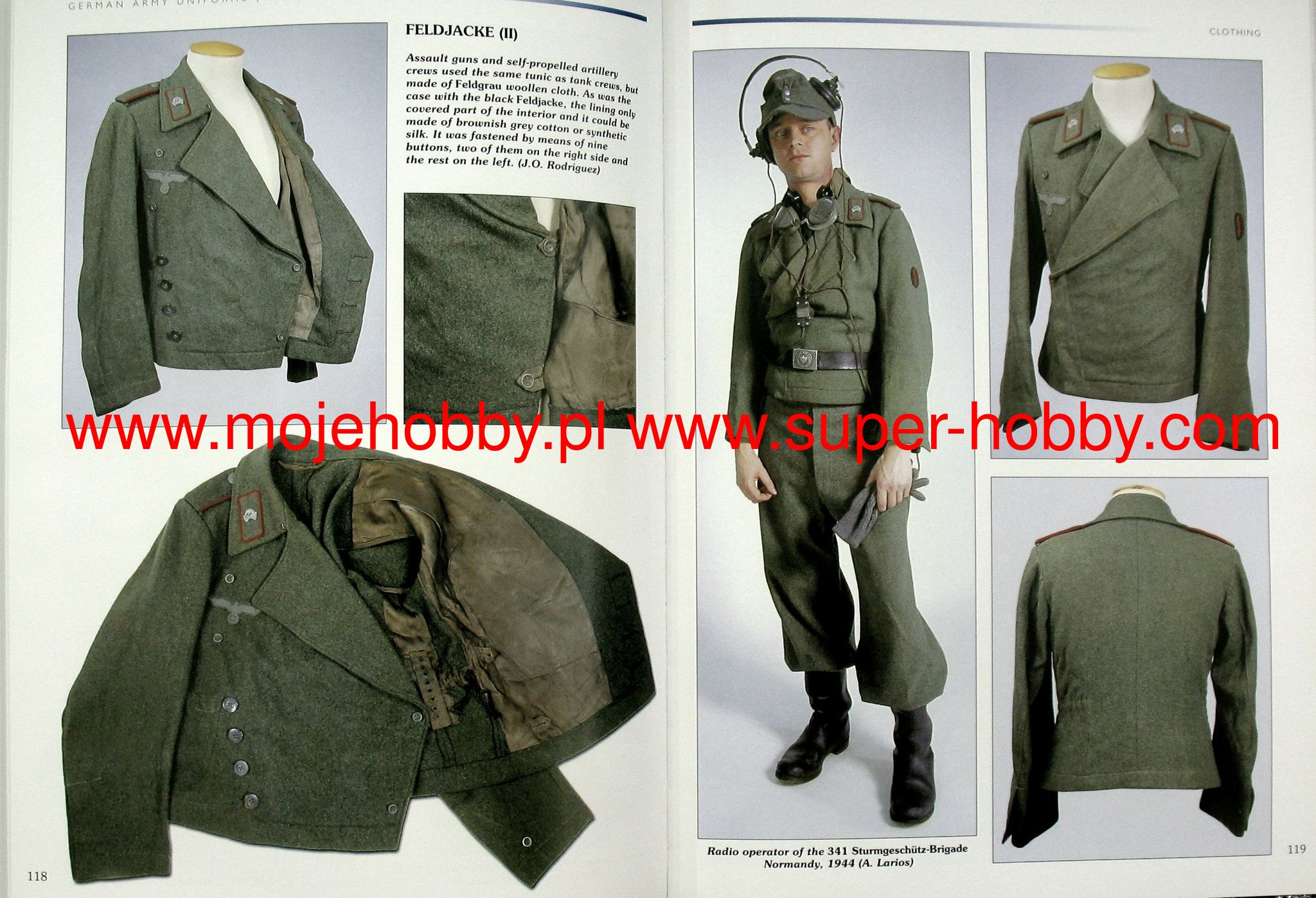 The uniform is made of woolly woolen cloth of olive color with two red edges