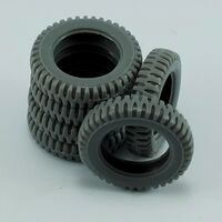 Spare tires for Jeep Willys for Tamiya - Image 1