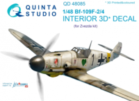 Bf 109F-2/F-4 3D-Printed & coloured Interior on decal paper