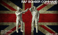 """Flight Stories"" - RAF WWII crewmen in high altitude outfit"