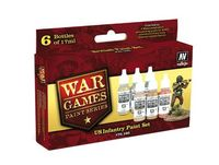 70160 War Games Paint Series - US Infantry Paint Set