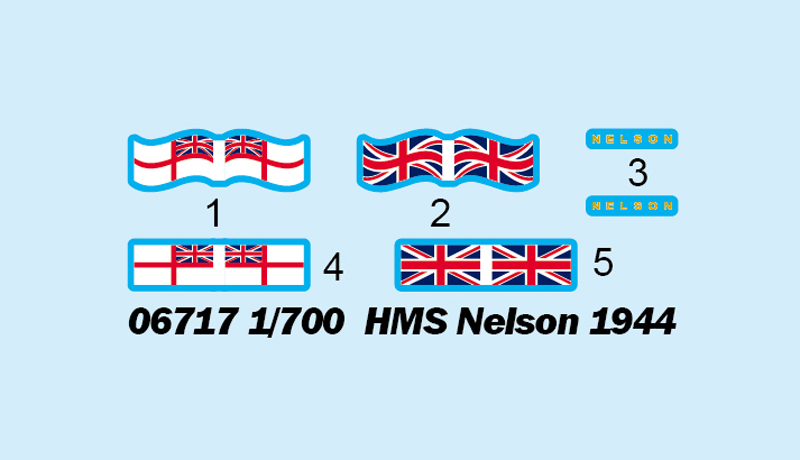 Hunter 1//700 HMS Nelson 1944 wooden deck for Trumpeter 06717 W70157