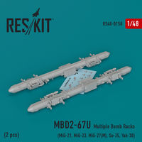 MBD2-67U (2 pcs) Multiple Bomb Racks  (MiG-21, MiG-23, MiG-27(М), MiG-29К, Su-25, Yak-38) - Image 1