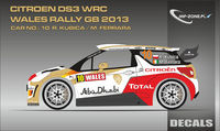 Citroen DS3 WRC Kubica - Wales Rally GB 2013 (Conversion for Heller 80758)