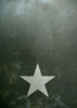 Grunge self adhesive base White star 26x19cm