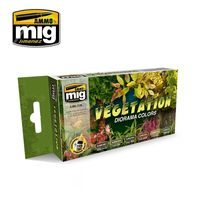 A.MIG-7176 VEGETATION DIORAMA COLORS SET