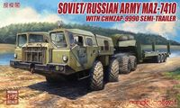 Soviet/Russian Army MAZ-7410 with ChMZAP-9990 semi-trailer - Image 1