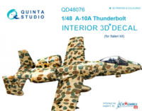 A-10A 3D-Printed & coloured Interior on decal paper