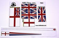 HMS Victory - set of flags