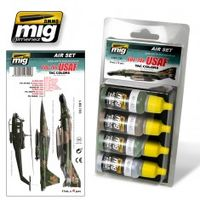 A.MIG 7205 Air Set - 60s-70s USAF TAC Colors also Vietnam Era - Acrylic Color for Brush and Airbrush