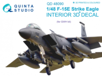 F-15E 3D-Printed & coloured Interior on decal paper