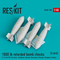 1000 lb retarded bomb checks (117 tail-951 tail fuze)  (Canberra, Harrier, Buccaneer, Tornado, Phantom, Hunter) (4 pcs)