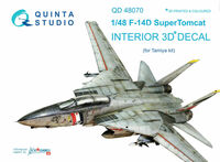 F-14D 3D-Printed & coloured Interior on decal paper (for Tamiya kit)