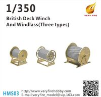 British Deck Winch and Windlass (3 types, 23 sets)