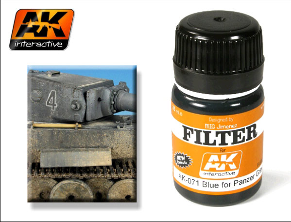 AK-071 Blue for panzer grey filter - Image 1