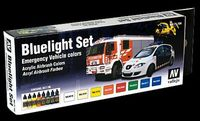 71154 Model Air - Bluelight Set Emergency Vehicle Colors
